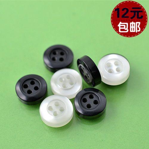 Оптовая черный белый кнопка глаз свет утолщенной четыре диких рубашки на пуговицах рубашки оптовой 10mm-11.5mm