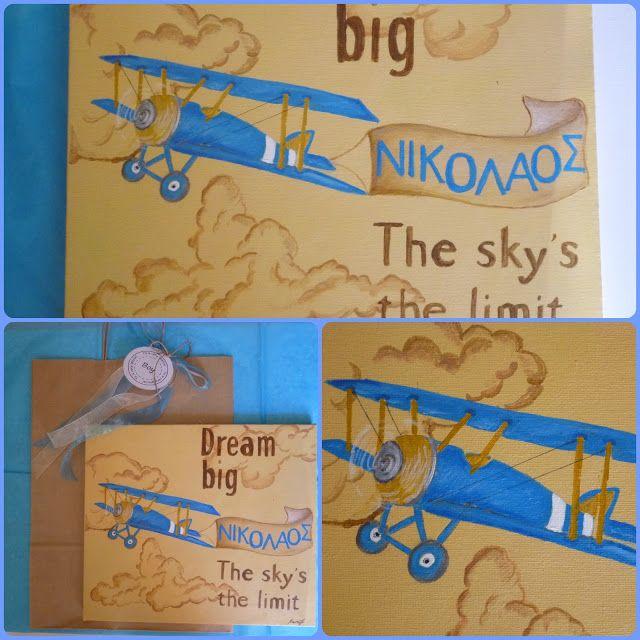 Irene & Nicki Create!  :      Personalised Aeroplane CanvasHello ever...