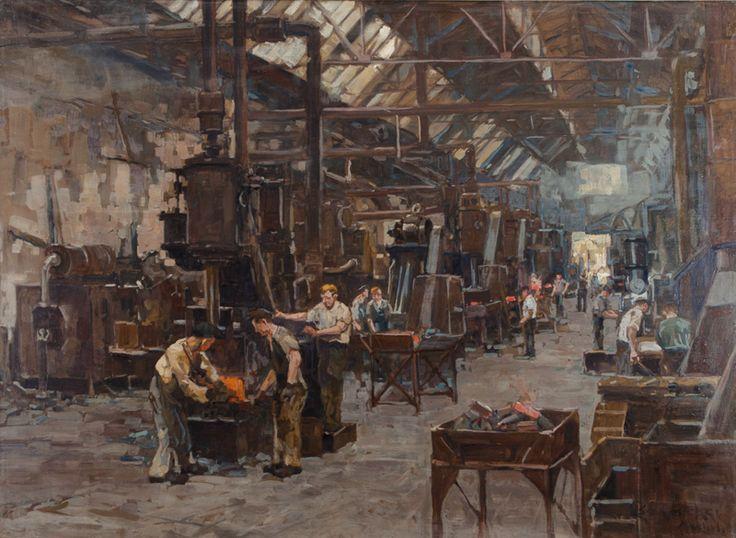 Erich Mercker Forging Steel In Factory Industrial