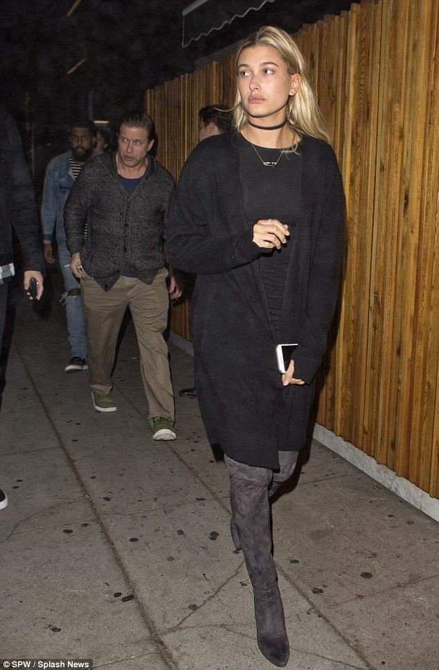 Just the two of us! Hailey Baldwin enjoyed some quality time with her father Stephen at Th...