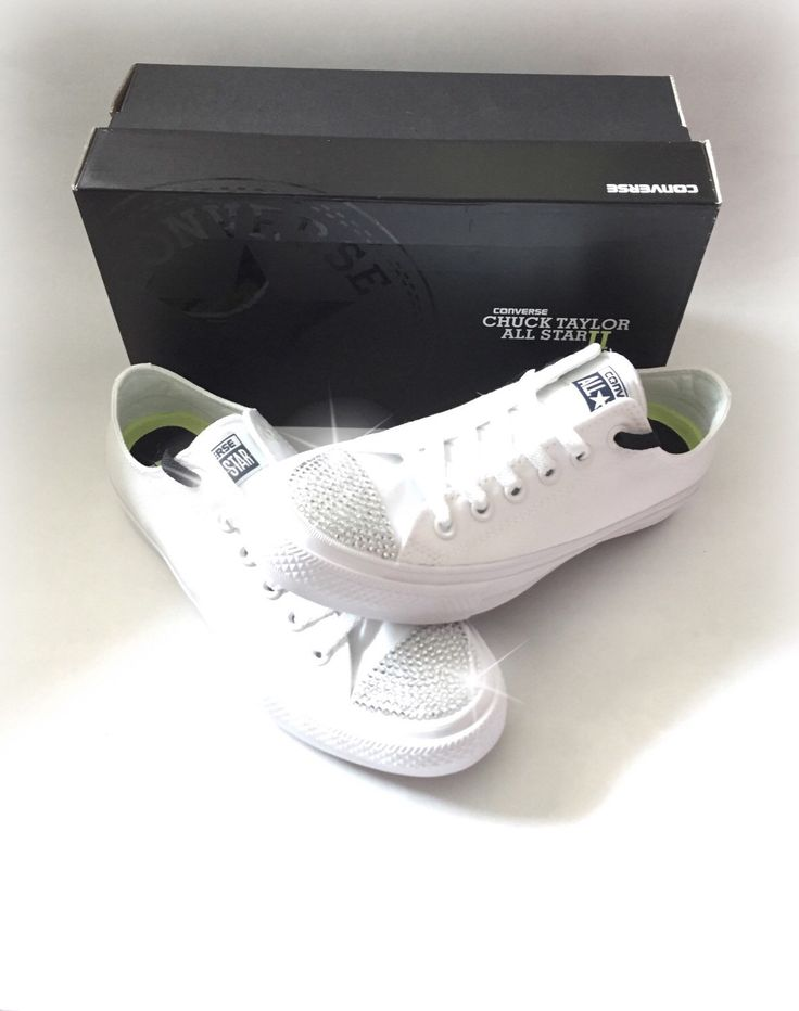 Bling White Converse Sneakers, Crystal Converse Shoes, Wedding Converse Shoes, Rhinestone Converse, Bling Converse by ShopWildRose on Etsy https://www.etsy.com/listing/291600745/bling-white-converse-sneakers-crystal