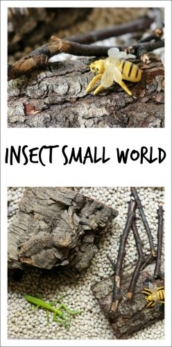 Simple insect small world play from Fun A Day!