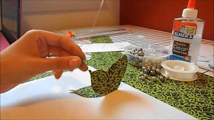 Mobile(hanging) de borboleta de papel
