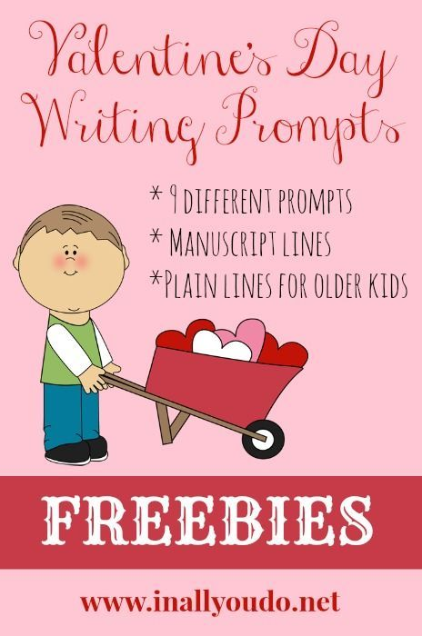 FREE Valentines Day Writing Prompts | In All You Do