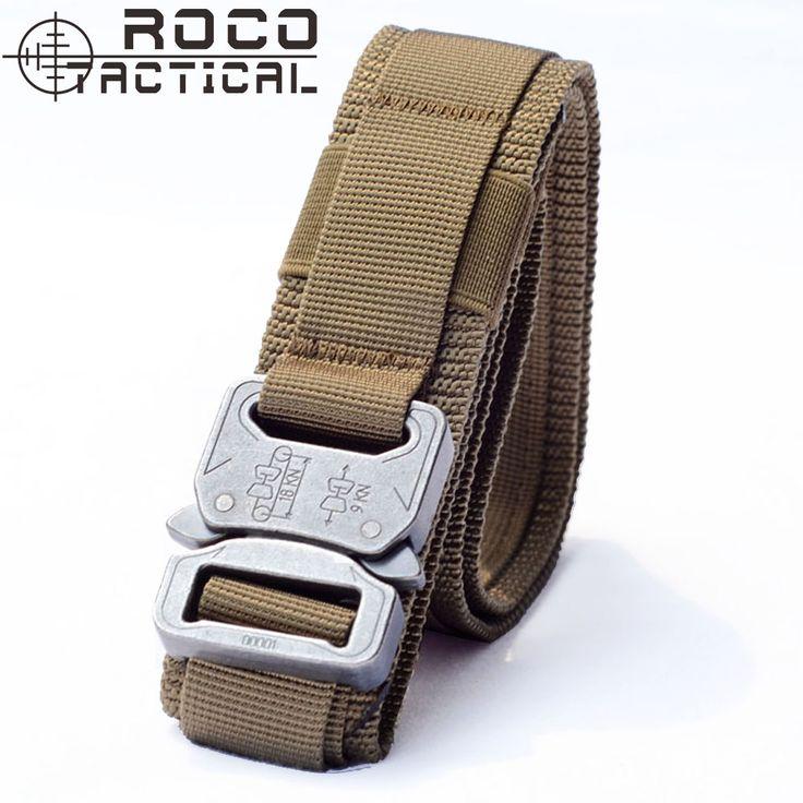 ROCOTACTICAL חגורת אקדח אקדח טקטי מפעיל החגורה טקטי Molle מרופד חגורת סיירת טקטי חגורות ספורט 2 צבעים