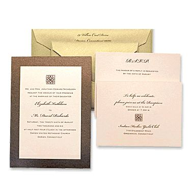 Madison 2-Layer Wedding Invitations by MyGatsby.com
