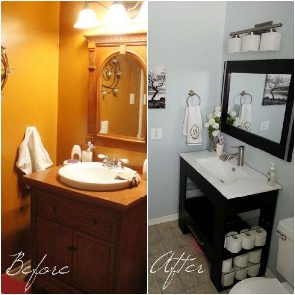may need a budget bathroom remodel soon nickel fixtures matching vanity and mirror