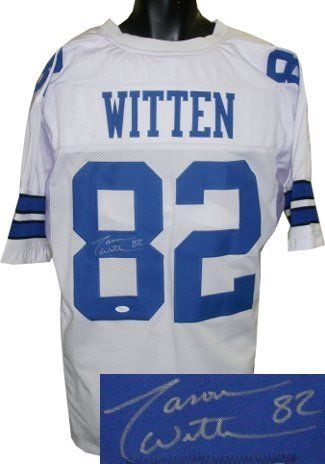 Jason Witten Autographed/Hand Signed Dallas Cowboys White Prostyle Jersey- JSA Hologram by Hall of Fame Memorabilia. $241.95. Jason Witten is a 6 time Pro Bowl selection from the Dallas Cowboys. In July 2006 Witten signed a six-year $29 million contract extension through 2012. The deal contains $12 million guaranteed including a $6 million signing bonus and a $6 million option bonus in the second year. Jason Witten has hand autographed this Dallas Cowboys White Pr...