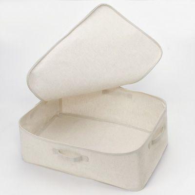 ポリエステル綿麻混・ソフトボックス・衣装ケース・大 約幅59×奥行39×高さ23cm | 無印良品ネットストア