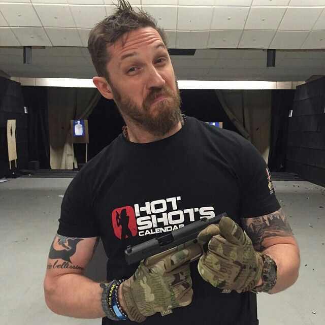 Tom Hardy, we need more A list celebs who are pro gun, like this badass. I will see anything he's in