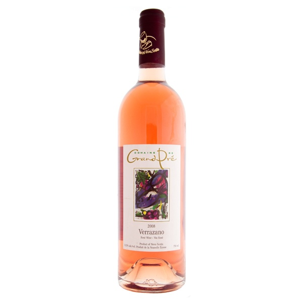 Picked up a bottle of Grand Pre Verrazano Rose. I was pleasantly surprised, not the sweet taste you normally associate with rose blends. Quite dry really, perhaps the dominance of the L'Acadie Blanc grape in the mix. A great summer drink for the backyard.