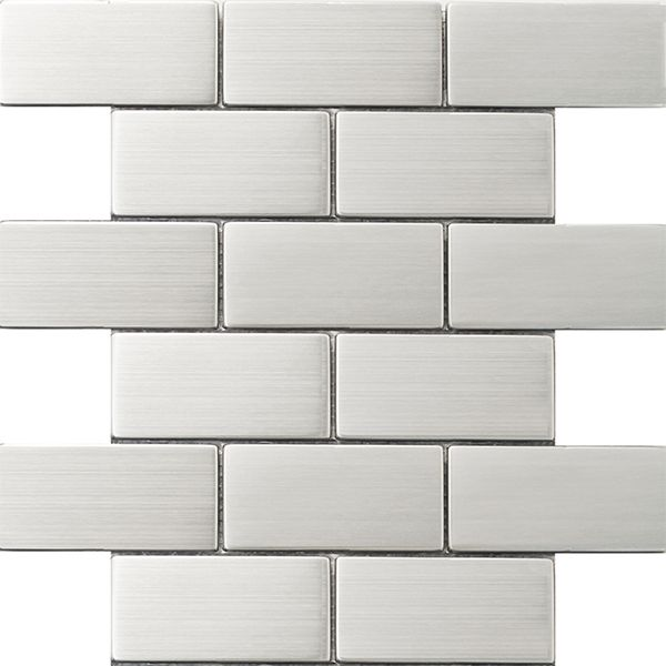 2x4 metal backsplash tile on sale stainless steel tile
