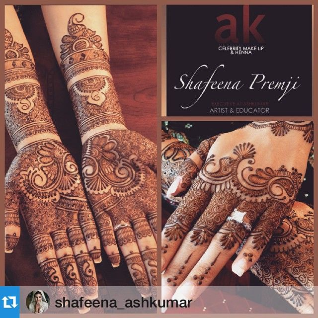 """439 Likes, 7 Comments - A S H   K U M A R - Beauty (@ashkumar_beauty) on Instagram: """"#Repost @shafeena_ashkumar ・・・Anita's full bridal hands inside and out....there is something about…"""""""