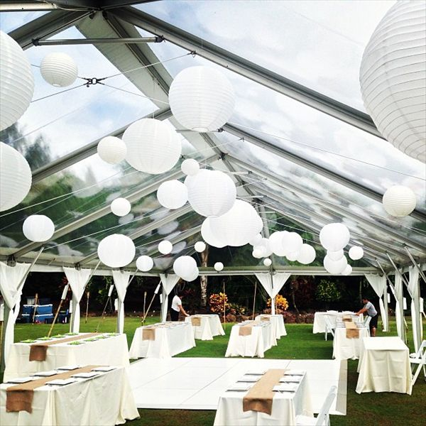 Pacific Party Rentals, LLC   Oahu Clear Top Tent For My Wedding