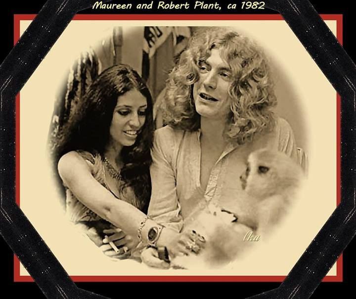 Robert Plant and (then) wife, Maureen, 1982