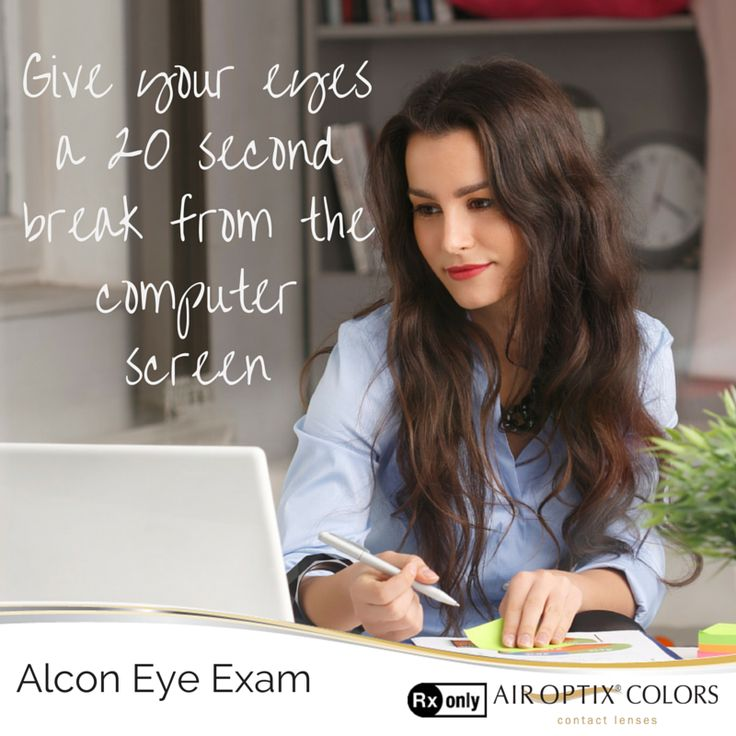 Did you know that staring at a computer screen may cause eye strain? Eye doctors recommend the 20-20-20 rule. Looking 20 feet past your computer screen, every 20 minutes, for at least 20 seconds can help reduce eye strain.