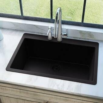 Granite Composite 33 L X 21 W Drop In Kitchen Sink Mrdirect