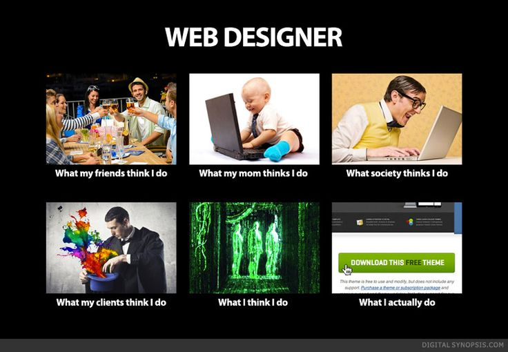 Websites suck Jokes about Web designers. Life of a Web Designer - What everyone thinks I do