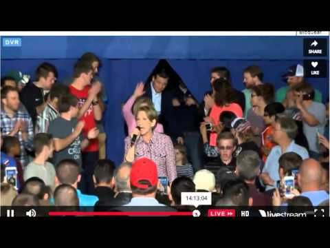 WATCH TED CRUZ'S PSYCHO REACTION TO CARLY FIORINA FALLING OFF THE STAGE AT A RALLY [VIDEO] |  Carly had to wait for another person to rush on to the stage and usher her away while Ted and Heidi acted like she didn't even exist. These people *want to be* President and First Lady, yet when a person does a header off a stage literally directly in front of their faces, all they do is stand there, grinning and then ignoring them. || [gotoComments]