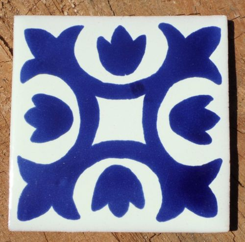 Blue and white Painted Tiles