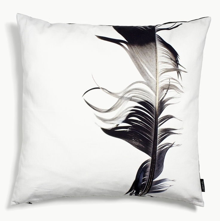 Styled feather cushion - cotton - at mydeco.com - Shop for your home from Europe's best boutiques. This product is delivered by Louise Roe