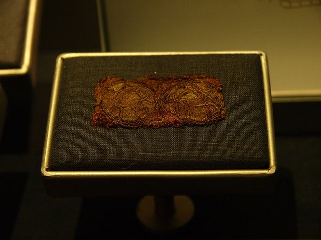 viking embroidery from the oseberg ship