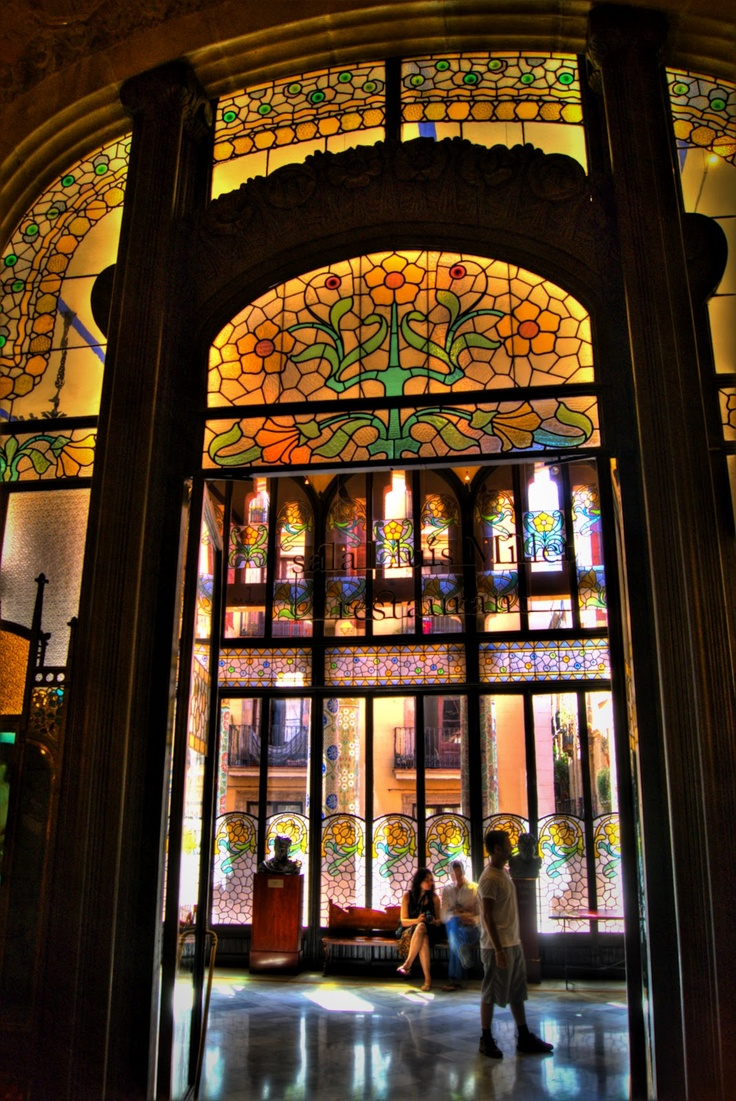 The Palau de la Musica Catalana... So many things to say about this ...