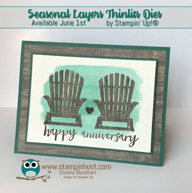 Happy Anniversary Card, Seasonal Layers Thinlits Dies, Stampin' Up! Annual Catalog Sneak Peeks, Paper Craft Inspiration, Cards and Scrapbook Pages