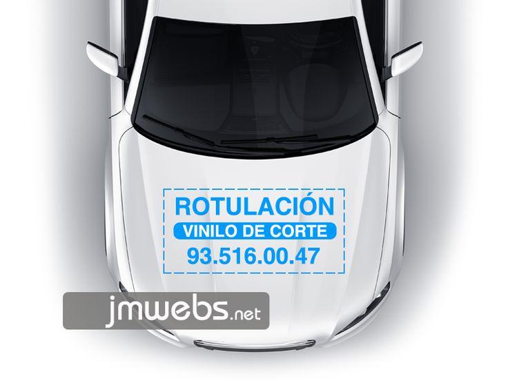 Rotulación de Coches con Vinilo de Corte. Capó Motor. Precios en nuestra página web: http://www.jmwebs.net/rotulacion-de-vehiculos-coches.php o Teléfono 935160047