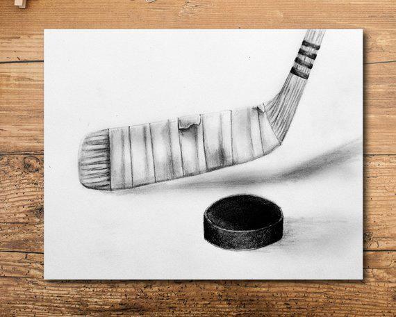 Begin Using These Ways To Assure An Incredible Experience Drawingideas Hockey Drawing Hockey Wall Art Pencil Drawing Tutorials