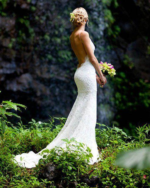 low back wedding dress, gorgeous