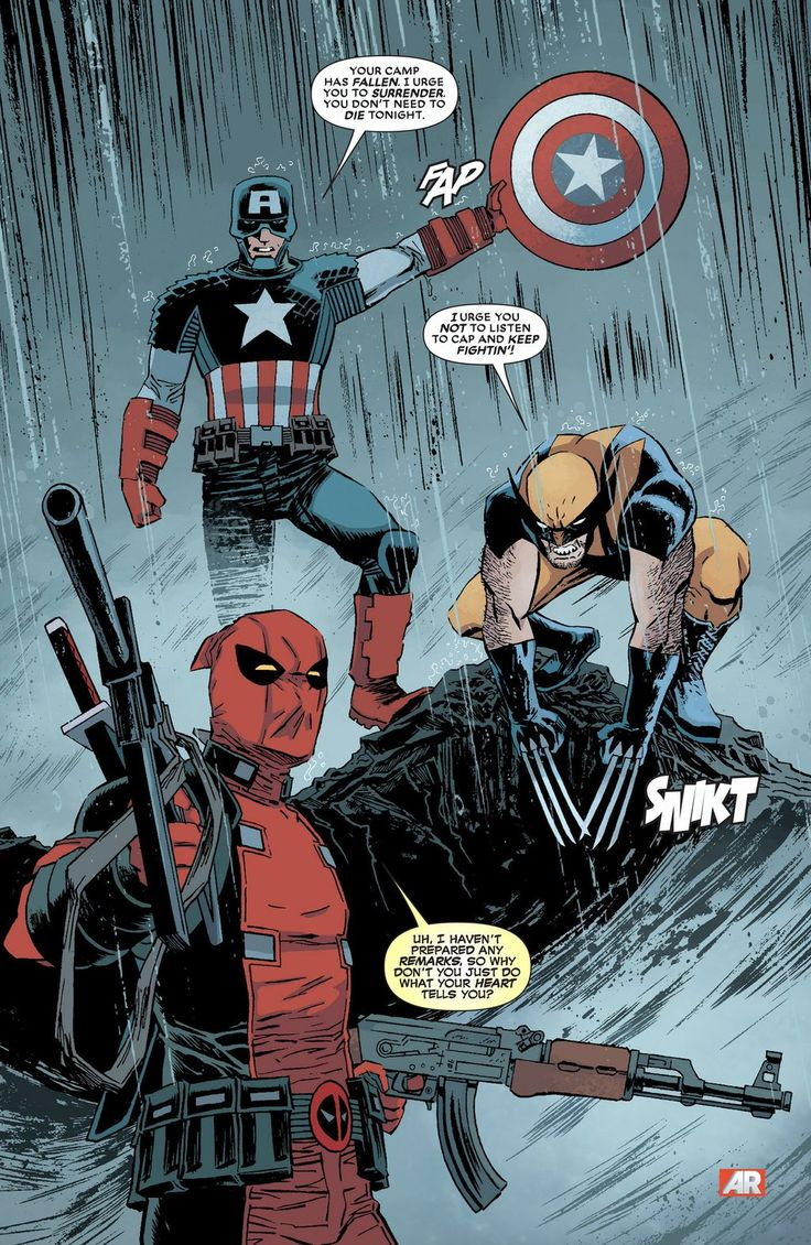 Captain America, Wolverine and Deadpool