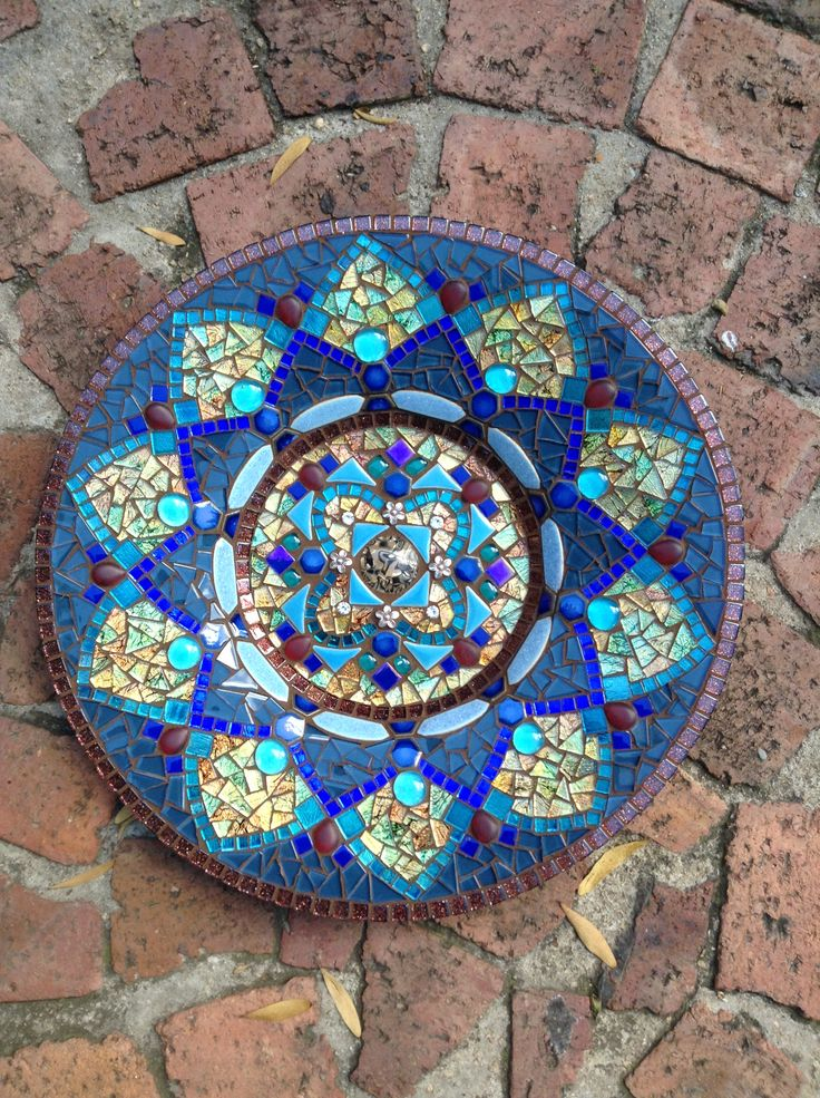 Mosaic mandala by Lisa B 200 best