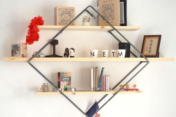 17 meilleures id es propos de etagere bois metal sur pinterest style heavy metal embellir. Black Bedroom Furniture Sets. Home Design Ideas
