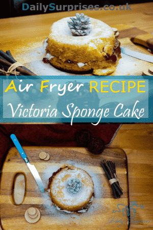 Victoria sponge cake, one of the most classic cakes of all times. Sweet and soft, amazing to go with a cup of warm tea. Did you know you can use an air fryer to make this cake?