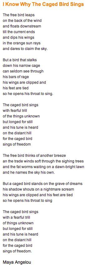 i know why the caged bird sings by maya angelou - Khafre