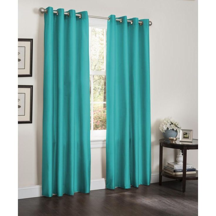 Kashi Erin Faux Silk Insulated Blackout 90-inch Curtain Panel Pair (