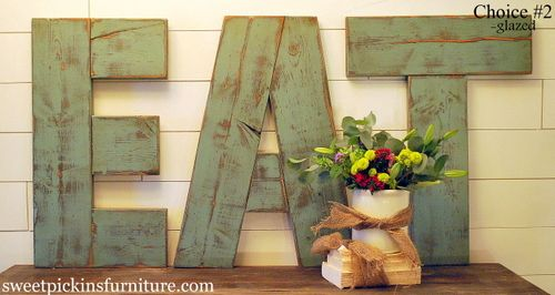 So perfect!! Been looking for a way to make the E A T out of my pallets. :) YAY!!!