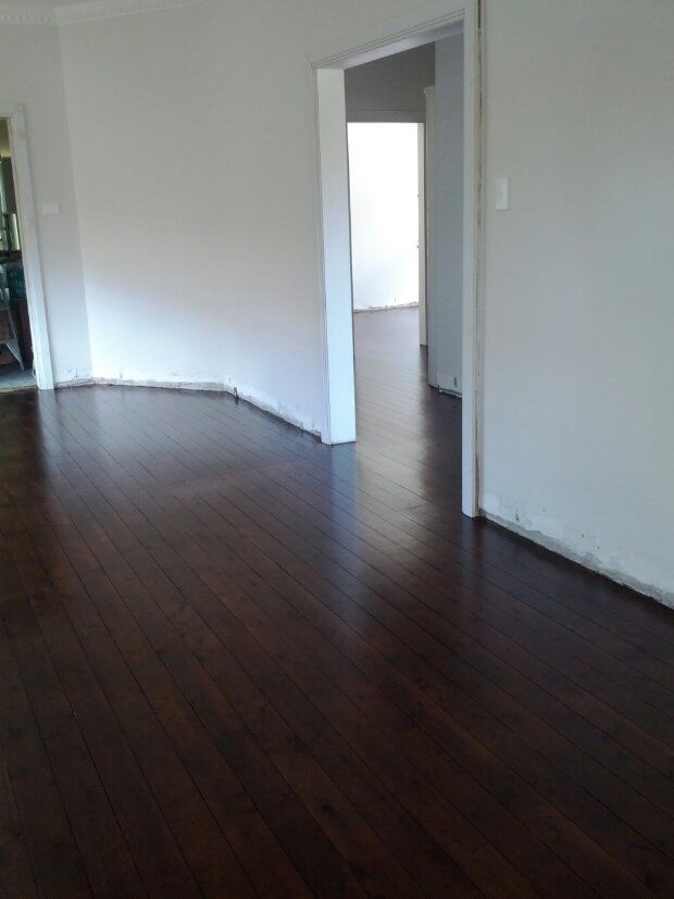 cypress pine stained