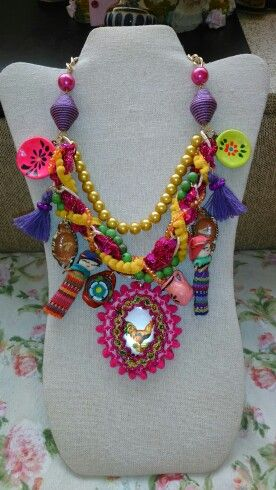 Collar cultura mexicana diseñado por Deseos Divinos Guadalajara 044 333 508 58 55