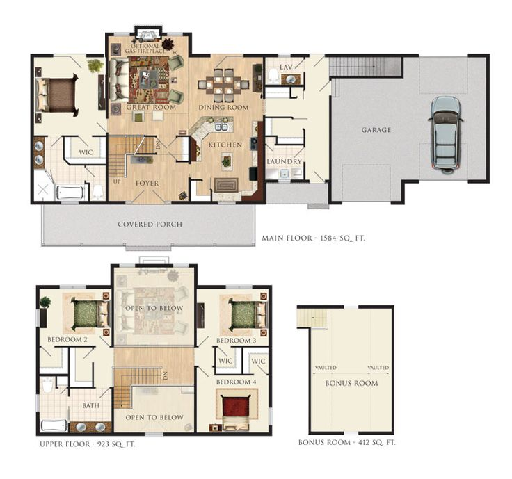 599 Best Floor Plan Images On Pinterest