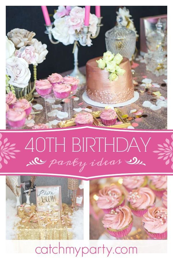 Rose Gold Birthday 40 Is Fab 40th Birthday Parties Girls