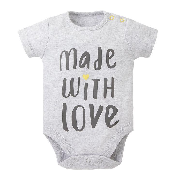 Mothercare Baby Newborn Boy's Made with Love Slogan Bodysuit Onesie