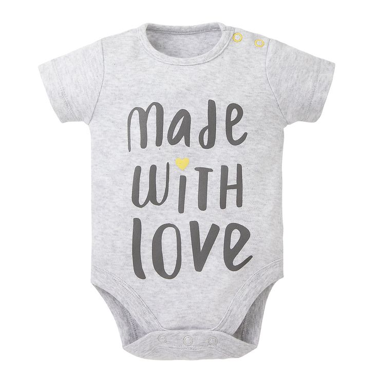 Mothercare Baby Newborn Boy's Made with Love Slogan Bodysuit Onesie