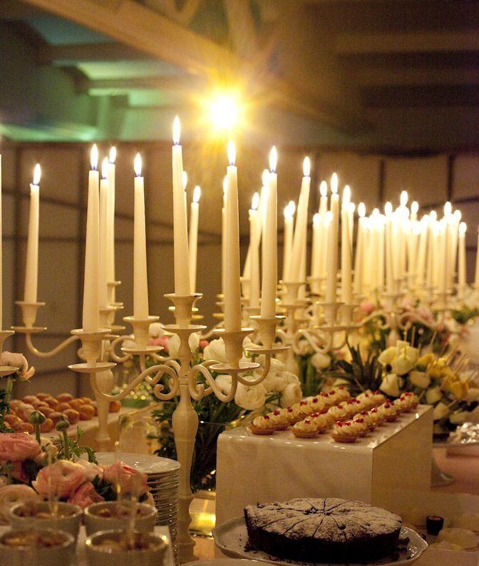 www.italianfelicity.com #weddingfood #candles #buffet