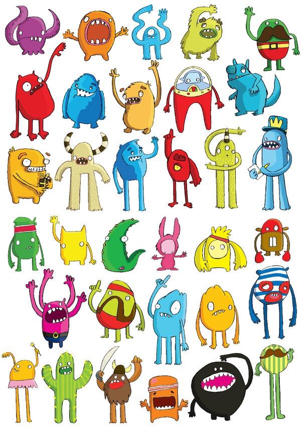 Monsters by Chloe Batchelor, via Behance