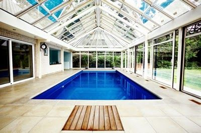 Indoor Pool Designs and Modern Fiberglass Wall Design