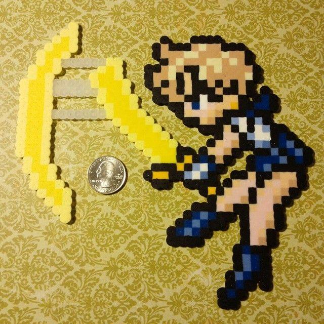 Sailor Uranus perler fuse beads by b.dawg.skip