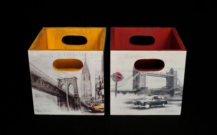 newyork&london boxes (15X15 cm.)
