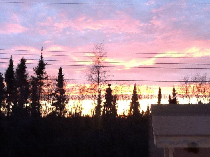 Sunset in Gillam, MB, Canada
